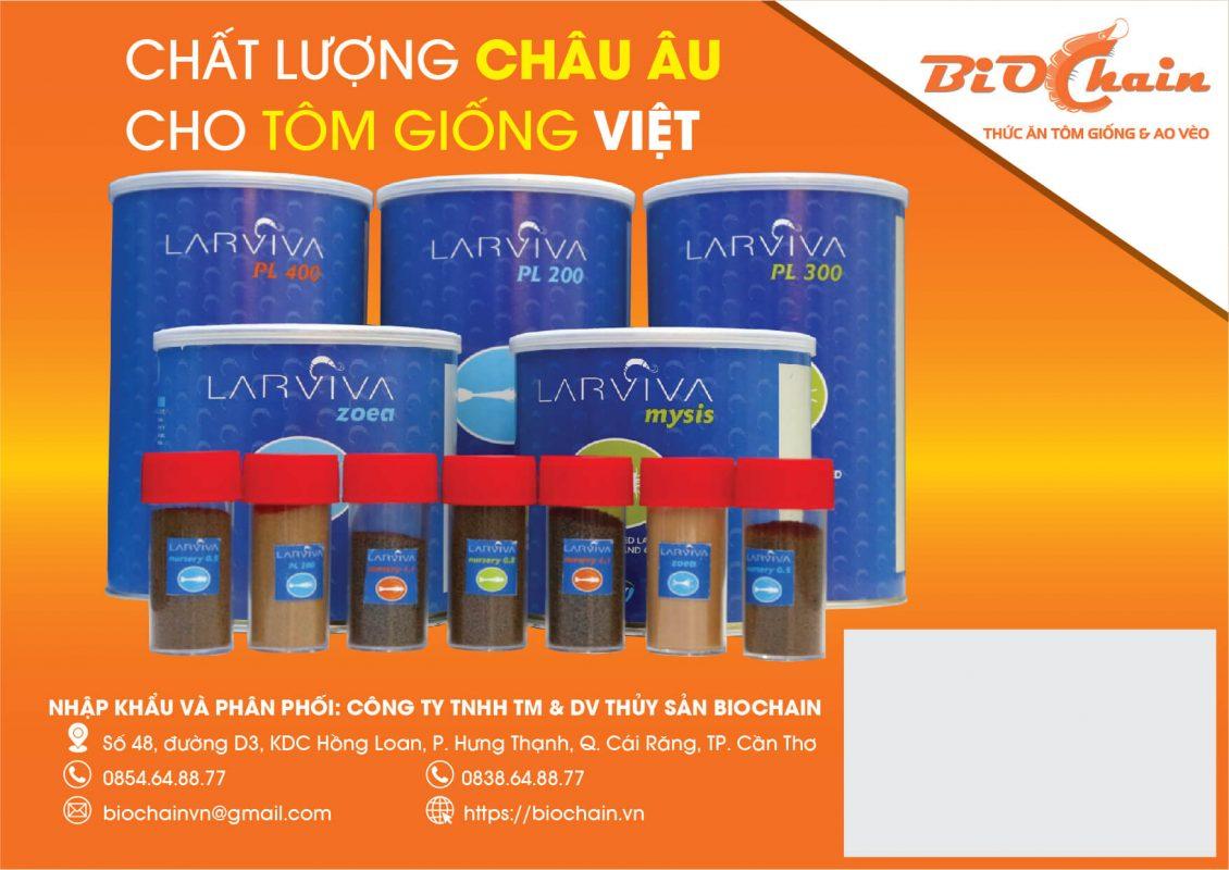 BioChain - Chất lượng Châu Âu cho tôm giống Việt